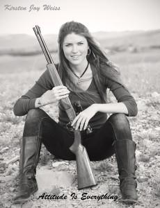 Kirsten Joy Weiss Gun Rifle Woman Attitude is Everything