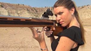 Shooting gun .22 anschutz dimes Kirsten Joy Weiss