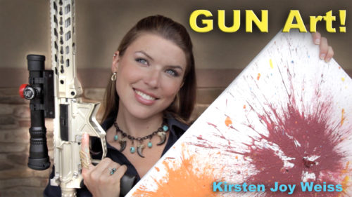 GUN Art?! Painting With A Gun!