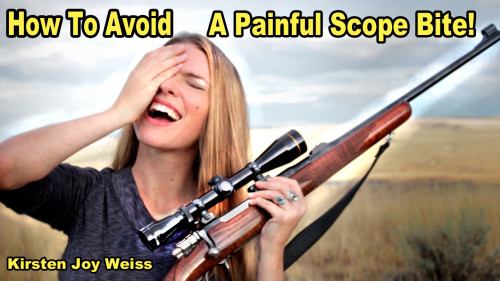 How to Avoid the Scope Hitting You in the Face (AKA the Painful Scope Bite!)