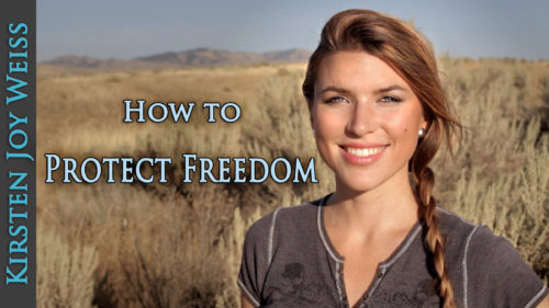 American Girl Sharing & Protecting True Freedom