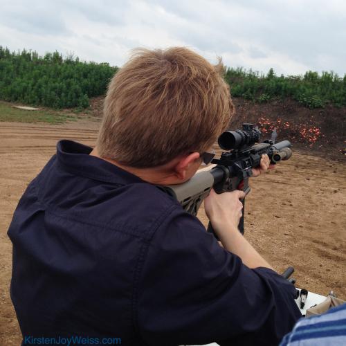 Ronan Shooting Like a Natural