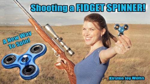 Shooting A Fidget Spinner? A New Way To Spin A Fidget Spinner!