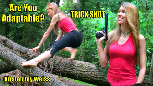 Youtube shooting trick shot forest adapt kirsten joy weiss