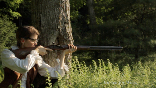 aiming flintlock