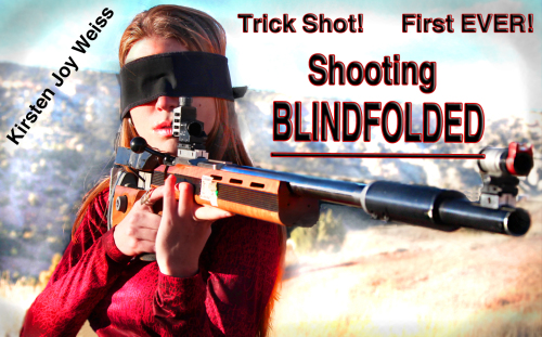 blindfolded trick shot Kirsten joy weiss