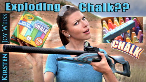 Exploding Chalk?? Shooting Chalk With A Gun! – Target Test #2