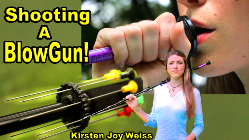 Blowguns Are Fun – Shooting A Blowgun!