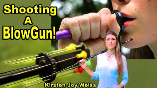 shooting a blowgun kirsten joy weiss