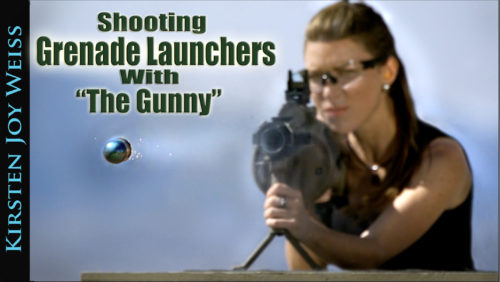Shooting Grenade Launchers With The Gunny! – M32A1 –  Kirsten Joy Weiss